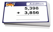 3rd grade math addition cards - For card games and board games on third grade math