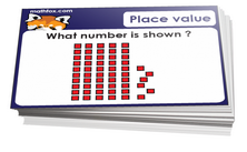 3rd grade place value cards - For math card games and math board games on third grade math