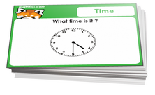 3rd grade cards on time - For math card games and math board games on third grade math