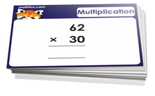 5th grade math cards on multiplication - For math board games