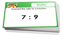 6th grade math ratio cards - For math board games