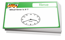6th grade math time cards - For math board games