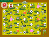Numbers and counting crocodile board game