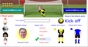 Addition penalty shootout game
