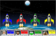 Addition moonshoot game