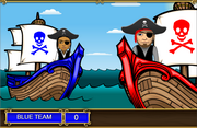 Multiplication volley pirate classroom game