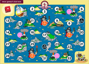 Subtraction pirate board game