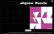 Square jigsaw puzzle for 1st grade children game