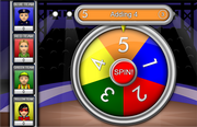 Addition and subtraction spin the wheel game