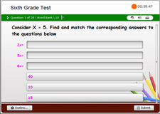 6th Grade Math End of Level Test