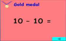 1st grade subtraction - olympic jeopardy PowerPoint classroon game