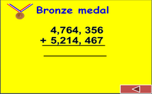 5th grade addition and subtraction PPT game - Olympic PowerPoint math classroom game