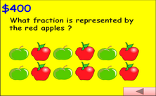 5th grade fractions PPT game - Millionaire jeopardy PowerPoint math classroom game