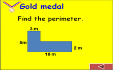 6th grade geometry PPT game -  Olympic jeopardy PowerPoint math classroom games