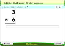 Addition subtraction division exercises