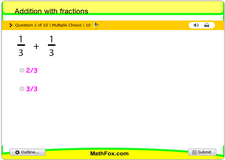 Addition with fractions