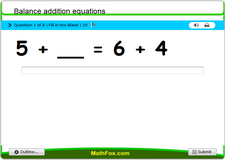 Balance addition equations