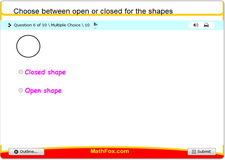 Choose between open or closed for the shapes
