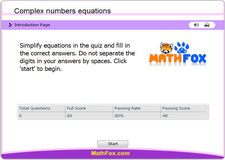 Complex numbers equations