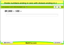 Divide numbers ending in zero with divisors ending in zero