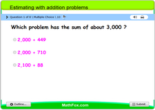 Estimating with addition problems