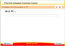 Find the greatest common factor