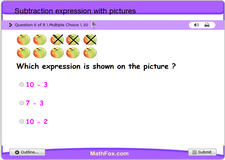 Subtraction expression with pictures