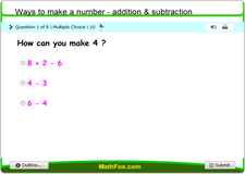 Ways to make a number addition and subtraction