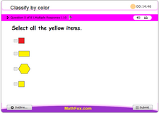Classify shapes by color