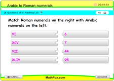 Convert arabic to roman numerals