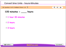 Convert time units hours minutes