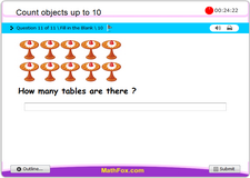 Count objects up to 10