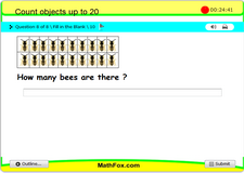 Count objects up to 20