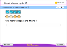 Count shapes up to 10