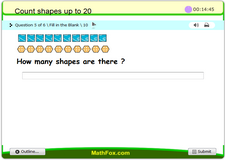 Count shapes up to 20