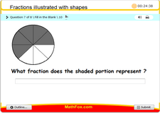 Fractions illustrated with shapes