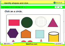 Identify shapes and click