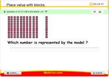 Place value with blocks