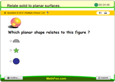 Relate solid to planar surfaces