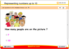 Representing numbers up to 10