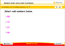 Select even and odd numbers