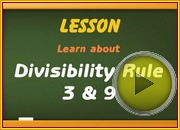 Divisibility Rule 3 9 video