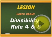 Divisibility Rule 4 8 video