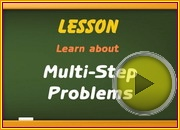 Multi Step Problems video