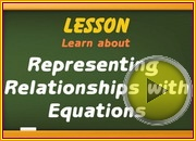 Representing Relationship with Equation video