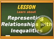 Representing Relationships with inequalities video