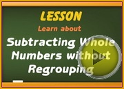 Subtracting Without Regrouping video