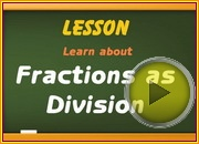 Fractions as Division video