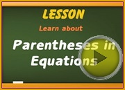 Parantheses in Equations video