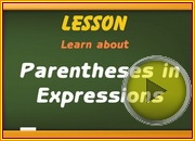Parentheses in Expressions video